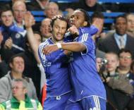 Ricardo Carvalho e Drogba, Chelsea vs Liverpool