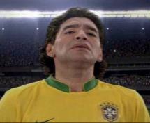 Maradona vestiu camisola do Brasil