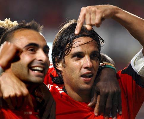 Benfica: Carlos Martins com mialgia na coxa direita