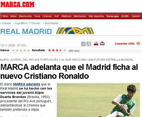 Benfica: Alípio (ex-Real Madrid) no América de Natal