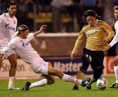 Taça UEFA: Zenit de Danny falha defesa do título