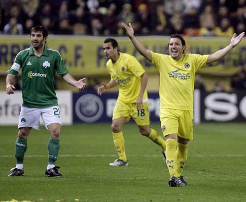 Liga dos Campeões: Villarreal vence em Atenas e segue na prova