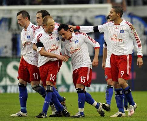 Taça UEFA: Hamburgo dá a volta ao Man City