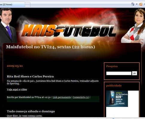 Maisfutebol na TVI24: também já tem um blog