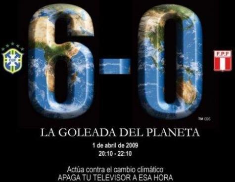 Brasil-Peru: apagão contra a «Goleada do Planeta»