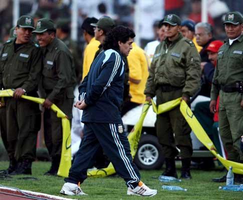Maradona: «Cada golo da Bolívia era uma facada»