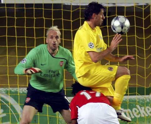 Villarreal-Arsenal: submarino fica vermelho por falta de ar