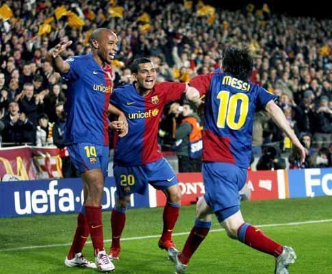 Champions (meias-finais): super-Barça contra o domínio inglês