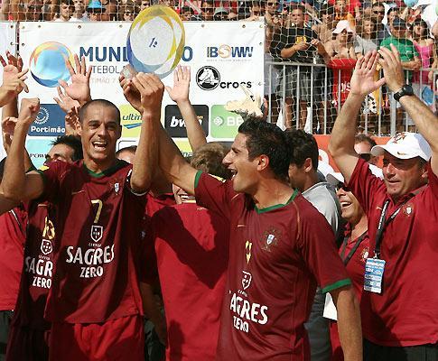 Futebol Praia: Portugal mantém liderança no ranking mundial