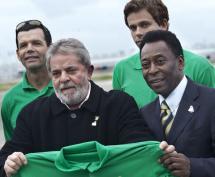 Lula e Pelé em campanha pelo Rio 2016