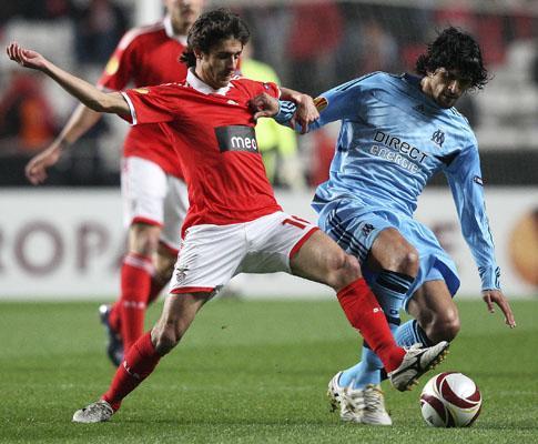 Benfica teve quase o dobro dos remates do Marselha