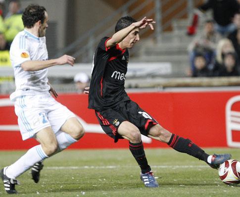 Liga Europa: Marselha-Benfica, 1-2 (destaques)