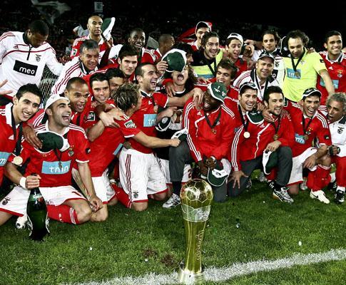 Benfica: adeptos festejam Taça da Liga no Marquês
