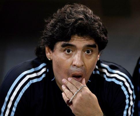 Maradona atropela jornalista