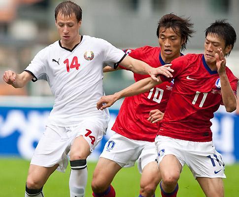 Coreia do Sul surpreendida pela Bielorrússia