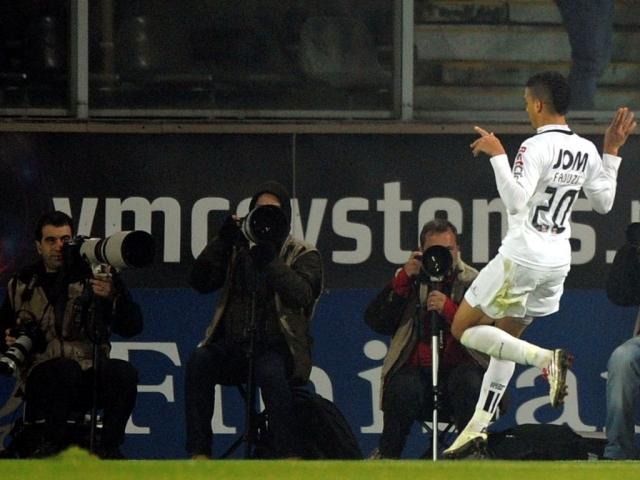 Faouzi celebra o golo da vitória