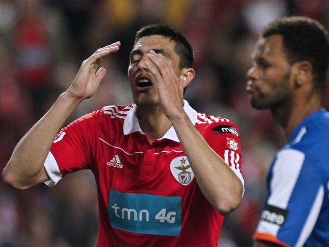 Reacções do Benfica na Luz (JOSÉ SENA GOULAO/LUSA)