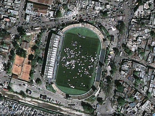 Estádio ocupado no Haiti