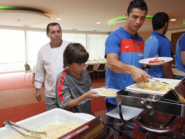 Duarte Lima e Cristiano Ronaldo (FPF/ Francisco Paraíso)