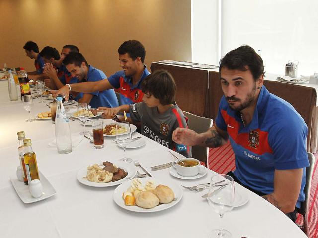Almoço da selecção (FPF/ Francisco Paraíso)