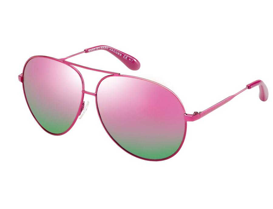 1d322d2de41d9 Moda  versão ultra glamourosa dos óculos estilo aviador by Marc Jacobs .