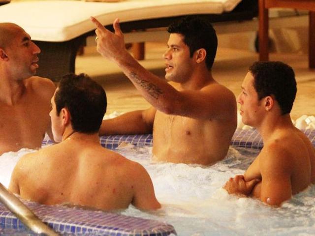 Hulk, Luisão, Bruno César e Adriano