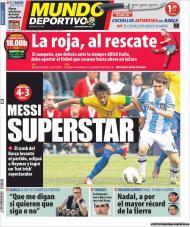 «Mundo Deportivo»: Messi em destaque no Brasil-Argentina