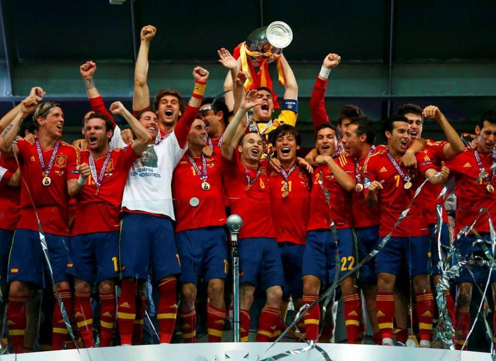 Seleção espanhola vence Euro2012 Foto: Reuters
