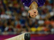 Ginasta Kyla Ross dos Estados Unidos nos Jogos Olímpicos de Londres de 2012 (Reuters)