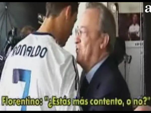 Florentino para Ronaldo: «Estás mais contente, não?»