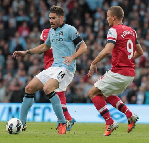 Manchester City-Arsenal: Javi García em ação