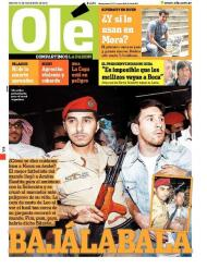 A louca chegada de Messi a Riade na capa do Olé