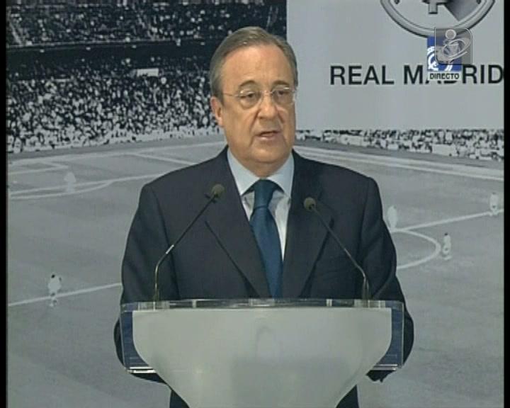 A gafe de Florentino Pérez no discurso de tomada de posse