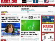Marca: «Um golo em fora de jogo tomba o Málaga»