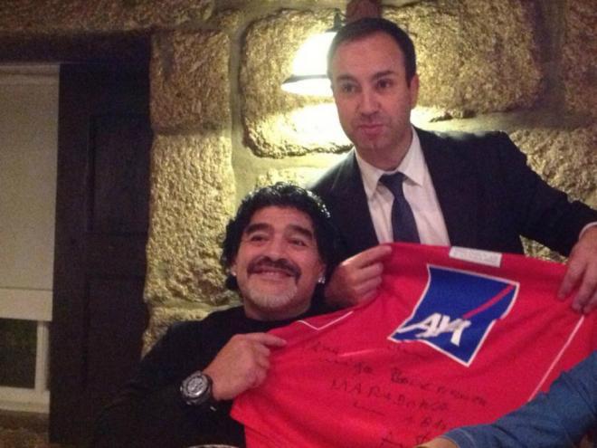 Maradona com António Salvador
