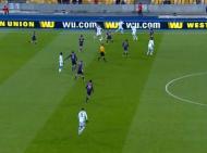 Imagem C: a desastrosa linha de fora de jogo. Aqui até há posição irregular do avançado, mas veja-se o lateral direito Faubert muito atrasado e a diferença entre os dois centrais