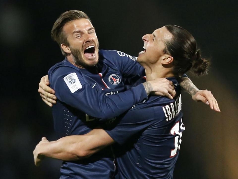 A aposta que Zlatan propõe a Beckham antes do Suécia-Inglaterra