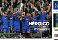 Benfica-Chelsea pelo mundo: Globoesporte  (Brasil)