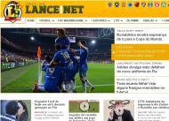 Benfica-Chelsea pelo mundo: Lance  (Brasil)