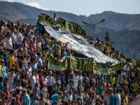 Adeptos encheram bancada do estádio em Arouca