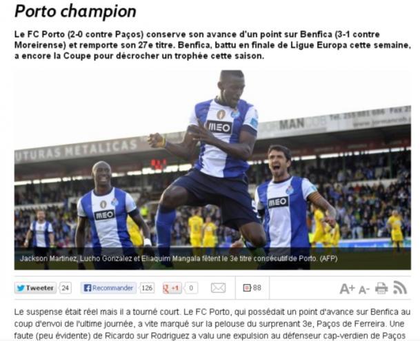 FC Porto tricampeão: LÉquipe