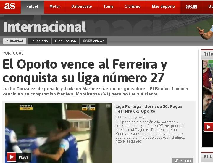 FC Porto tricampeão: AS