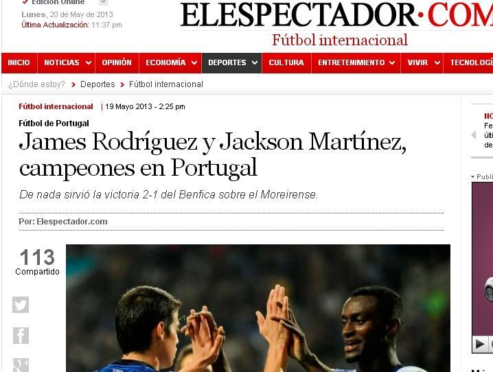 FC Porto tricampeão: Espectador (Colombia)