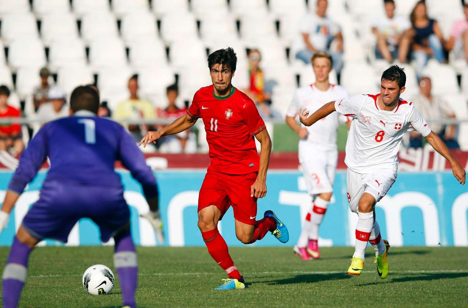 André Gomes no Portugal-Suíça em sub-21 (LUSA)