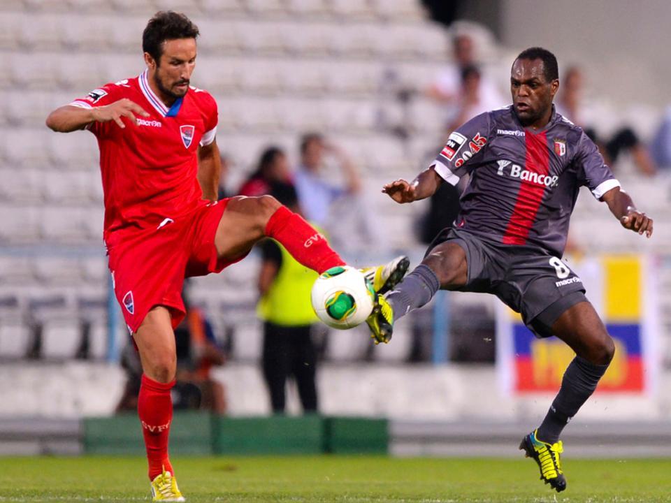 Confrontos no final do jogo entre Gil Vicente e Sp. Braga
