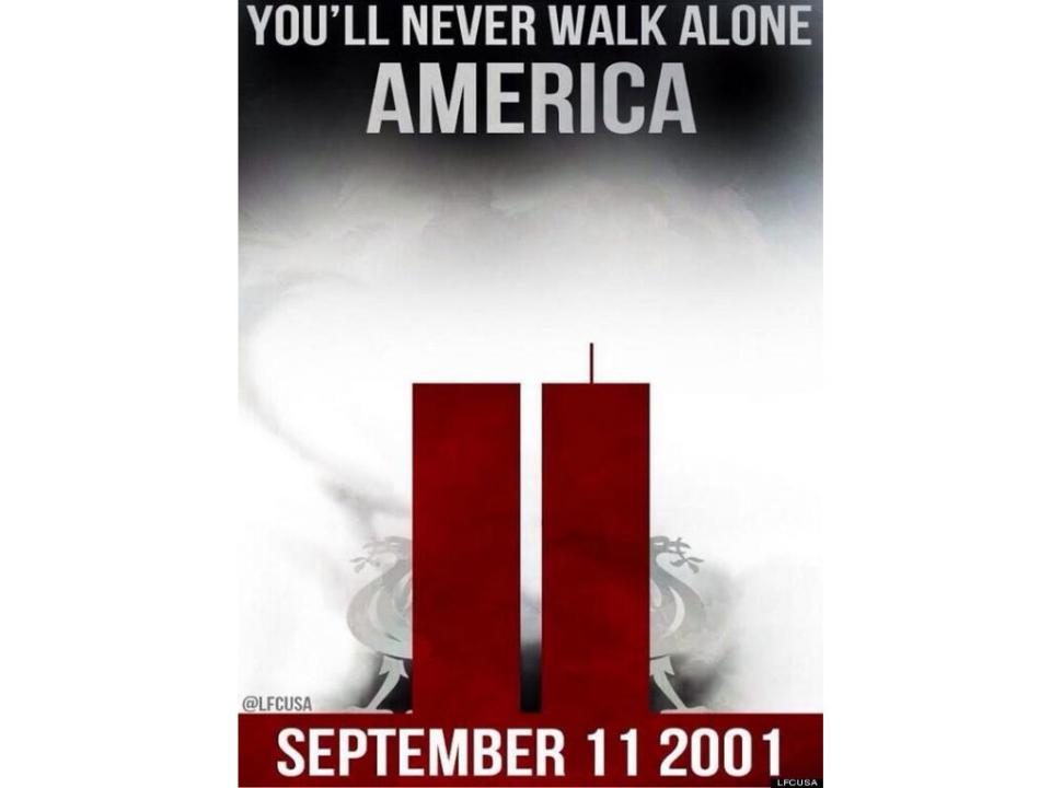 Liverpool: imagem de tributo ao 11 de setembro gera polémica