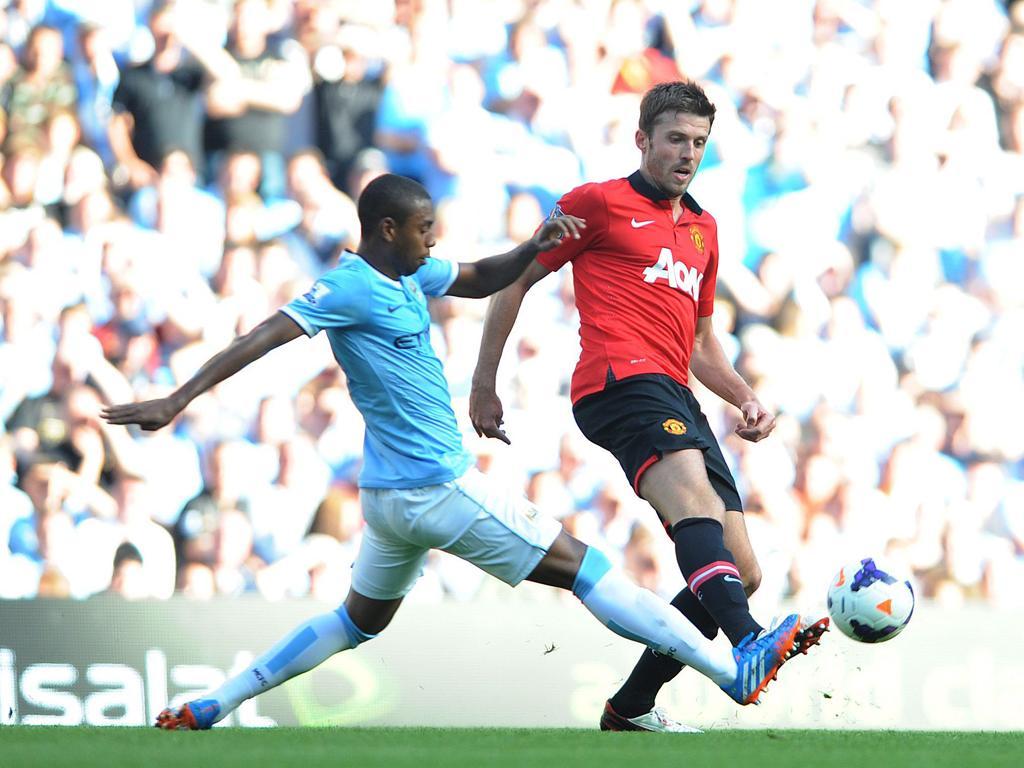 Carrick na ficha de jogo com o Swansea como membro do staff de Mourinho