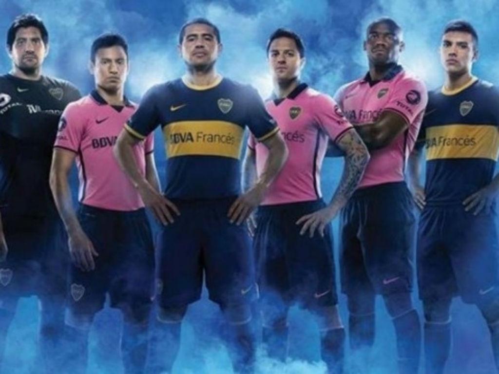 As camisolas rosa do Boca Juniors