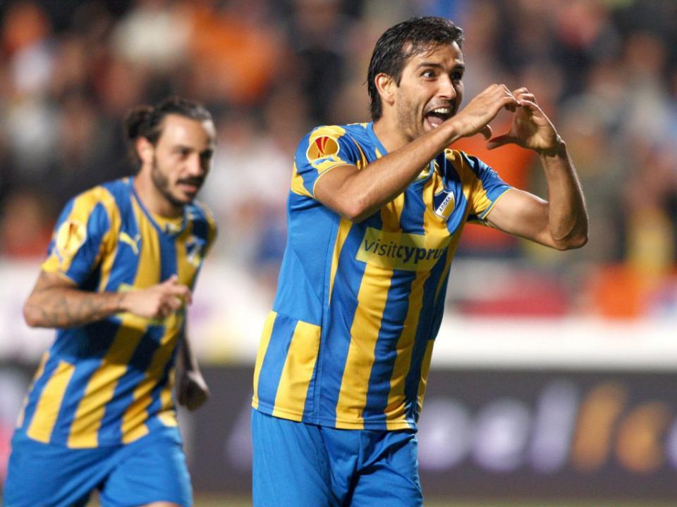 Chipre: Tiago Gomes marca na goleada do Doxa, Apoel reforça liderança