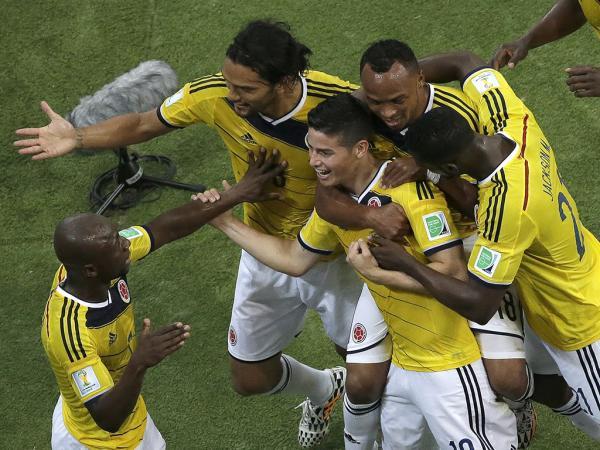 Colômbia-Uruguai, 2-0 (resultado final)